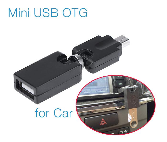 Đầu Mini USB OTG cho ô tô, xe hơi bẻ góc 360 độ