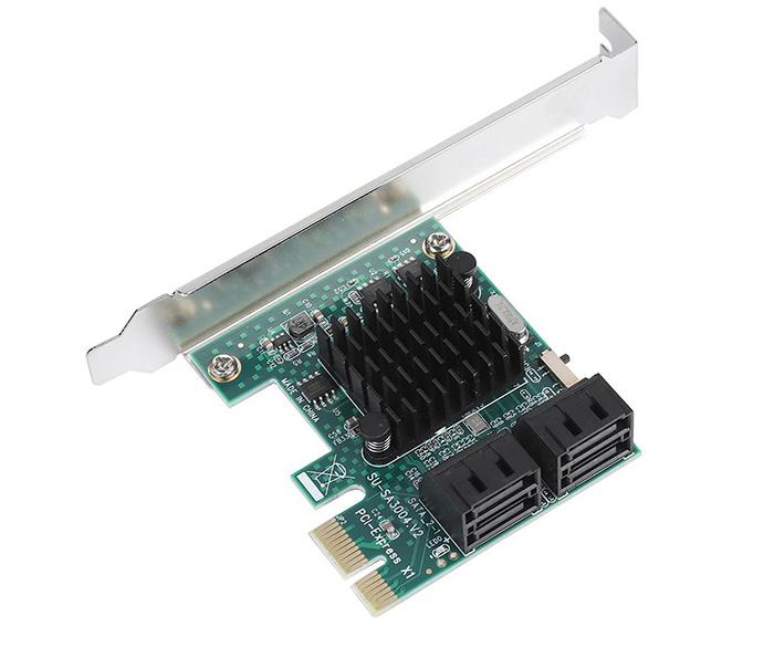 Card PCI-E to 4 SATA III chip ASM1061