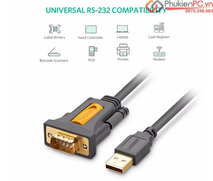 Cáp chuyển đổi USB sang RS232 Serial