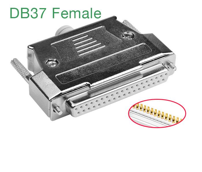 Đầu hàn DB37 Famale (chân cái) mạ vàng kèm vỏ ốp kim loại