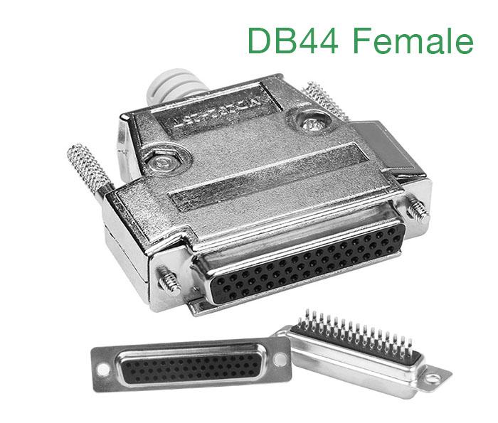Đầu hàn DB44 Famale (chân cái) kèm vỏ ốp kim loại