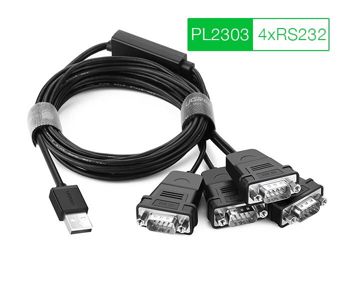 Cáp chuyển đổi USB to 4 RS232 (COM) Ugreen 30770