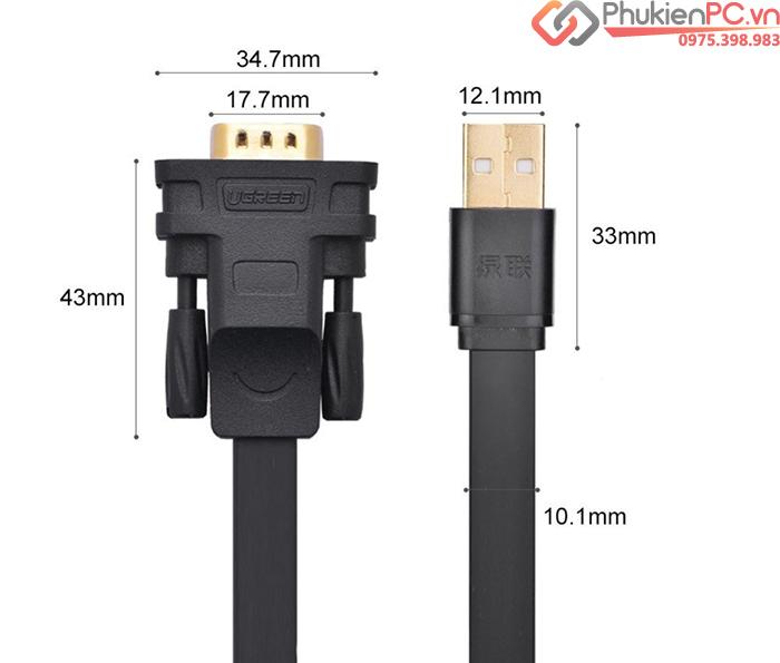 Cáp chuyển đổi USB sang RS232 FTDI