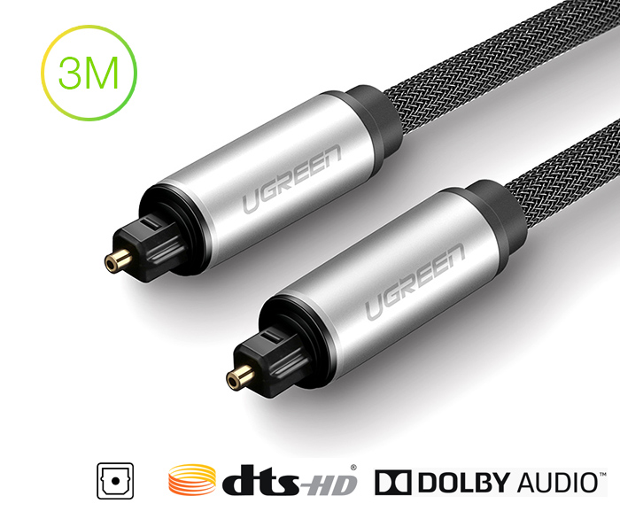 Dây cáp Audio quang Optical dài 3M Ugreen 10541 chính hãng