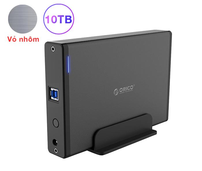 Box ổ cứng HDD 3.5 vỏ nhôm cao cấp Orico 7688U3 hỗ trợ 10TB