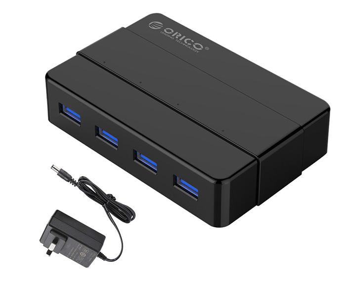 Bộ chia cổng USB 3.0-1 ra 4 hỗ trợ nguồn ngoài 12V Orico H4928-U3