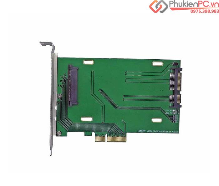 Card PCIe 4x to U.2 SFF-8639 NVMe SSD 2.5