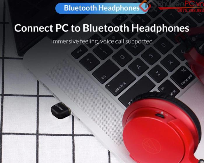 USB thu phát Bluetooth 4.0 cho máy tính bàn, Laptop Orico BTA-403