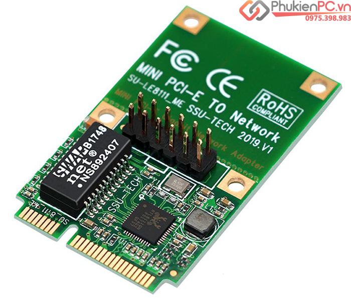 Card chuyển đổi Mini PCIe to LAN Ethernet Gigabit