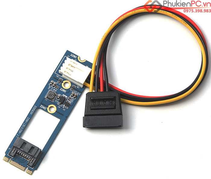 Adapter M.2 to SATA 3 6Gb cho ổ cứng HDD SSD