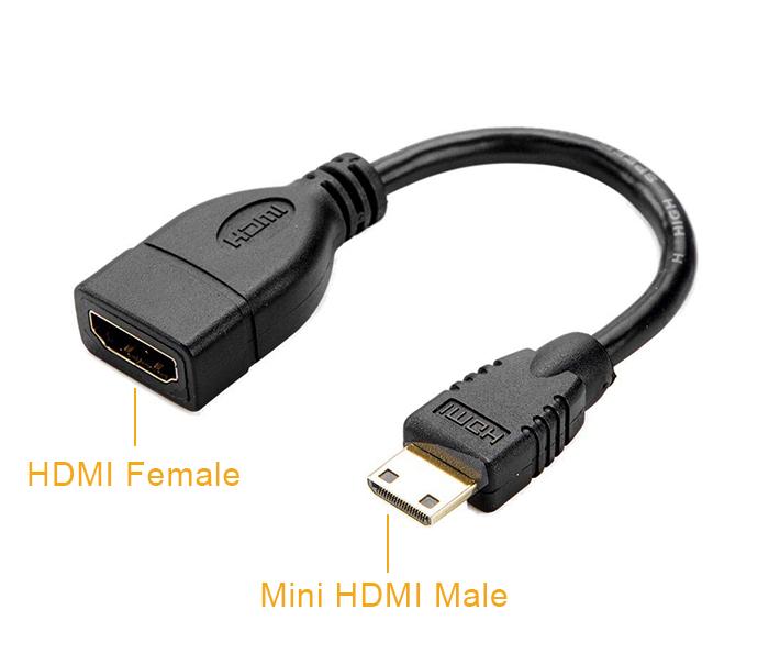 Cáp Mini HDMI to HDMI Female chân cái