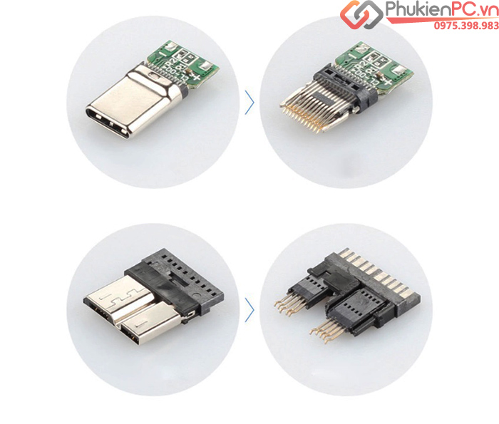 Cáp USB Type C sang Micro B HDD SSD dài 1M