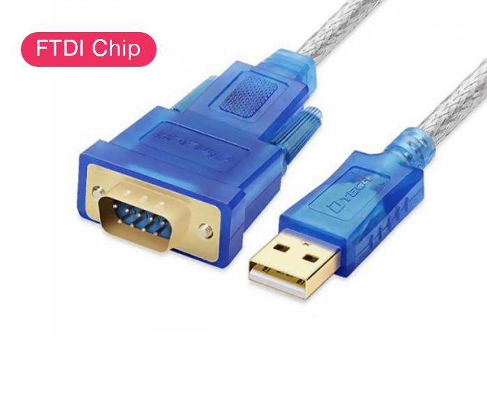 Cáp USB to RS232 FTDI chip dài 1.2M Dtech DT-5011