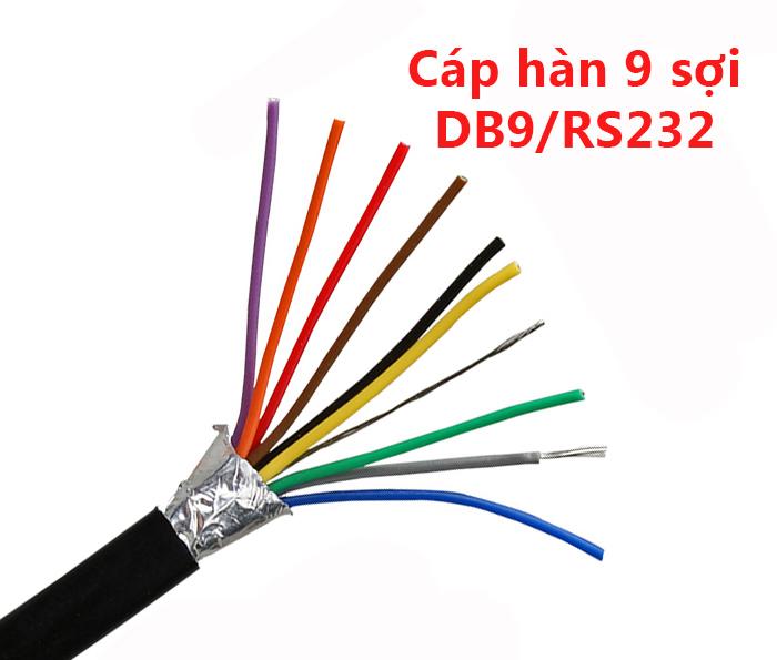 Dây cáp hàn RS232 DB9 COM 9 sợi chống nhiễu 28AWG