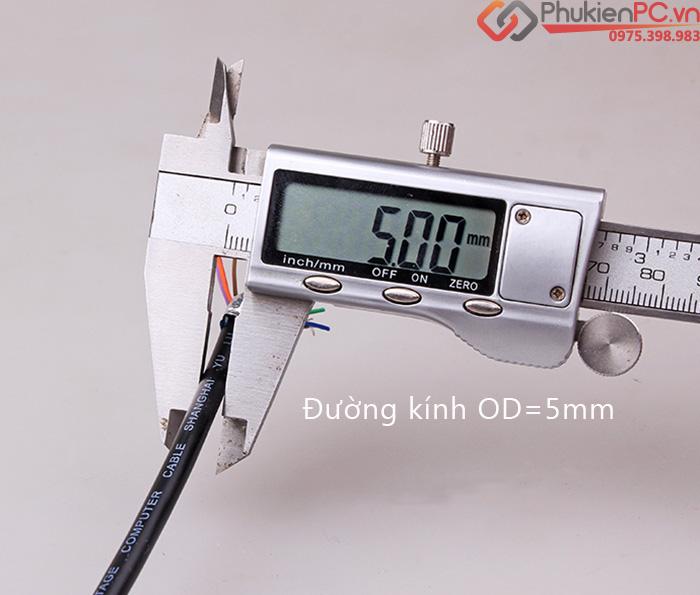 Dây cáp hàn RS232 DB9 COM 9 sợi chống nhiễu