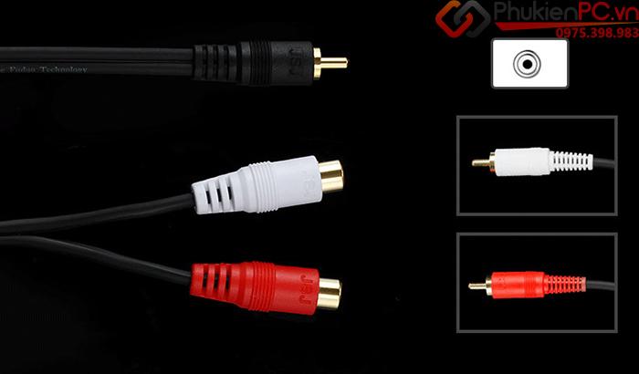 Cáp chia âm thanh audio RCA 1 ra 2