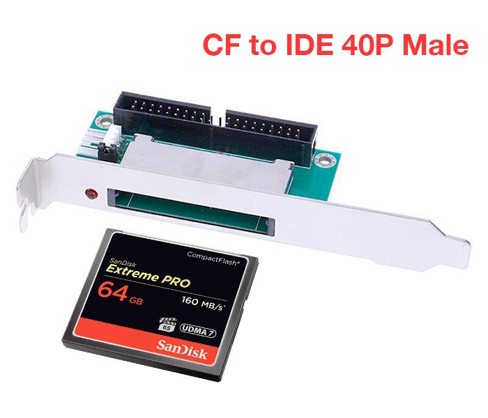 Card chuyển đổi CF to 3.5 Male 40 Pin IDE (PCI Bracket)