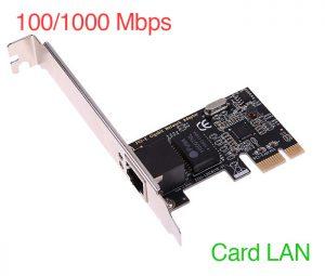 Card mạng LAN 1GB giá rẻ cho PC, giao tiếp PCIe dùng cho các loại main