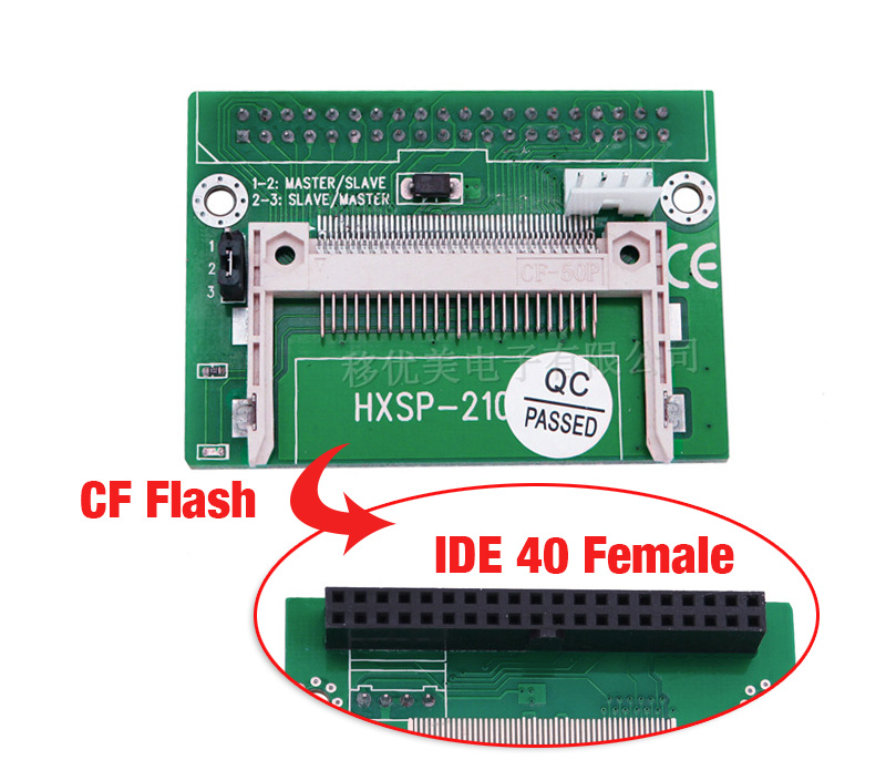 Compact Flash CF to 3.5 Female 40 Pin IDE Bootable Adapter