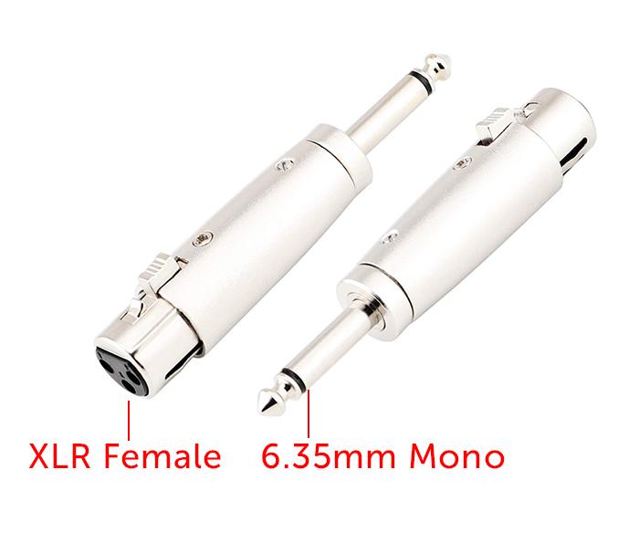 Đầu chuyển đổi Cannon XLR cái sang 6.35mm mono
