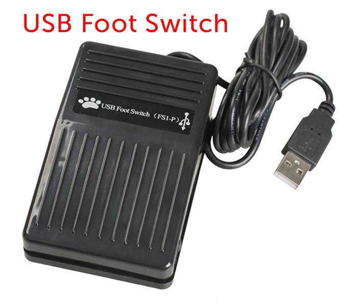 Bàn đạp điều khiển chân-usb foot switch pedal
