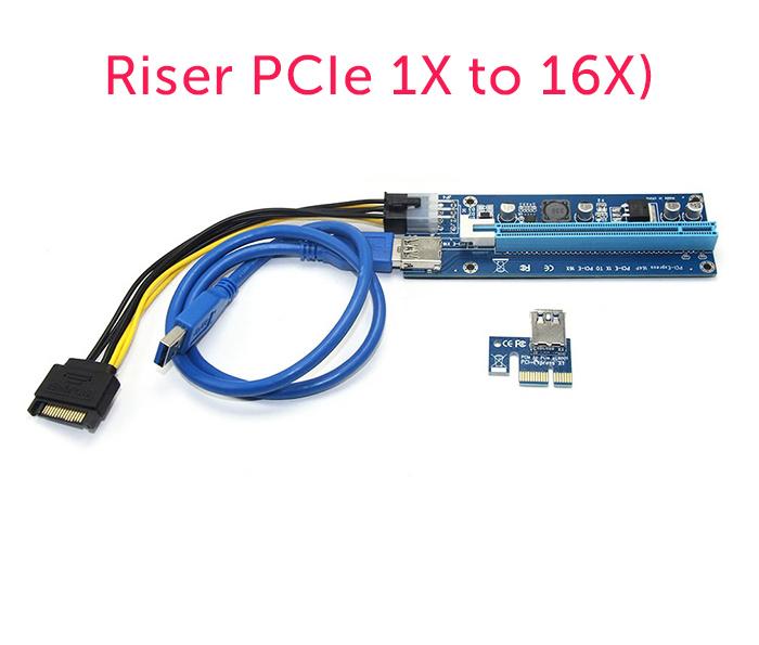 Cáp Riser chuyển đổi PCI-E 1X sang 16X