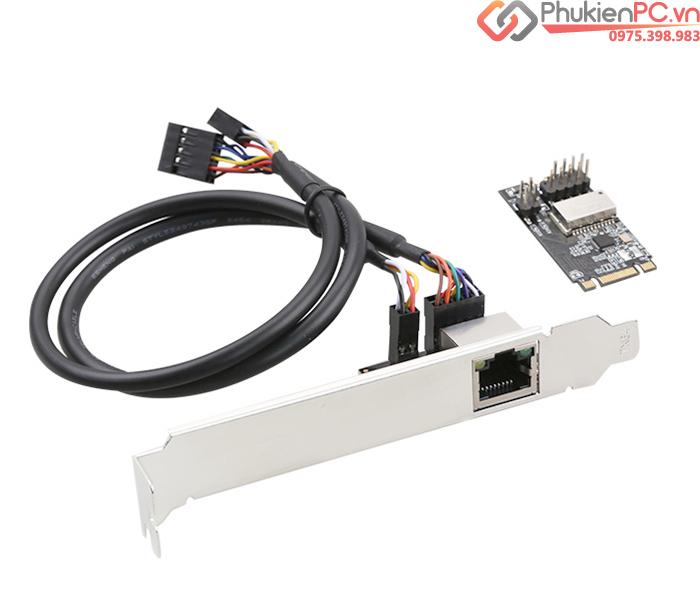 Adapter M.2 B Key, M Key to Ethernet LAN Gigabit