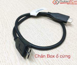 Cáp nối ổ cứng cắm ngoài sang USB Type C (USB-C to Micro BM)
