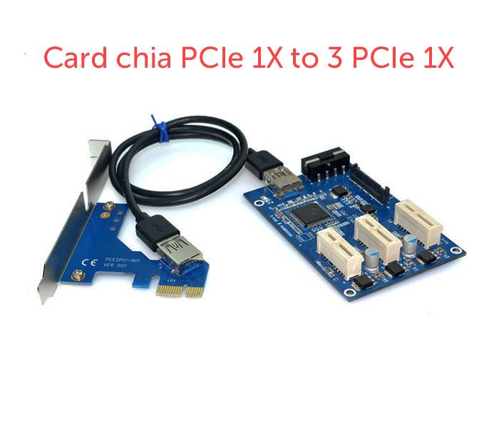 Card chia PCIe 1X ra 3 PCIe 1X