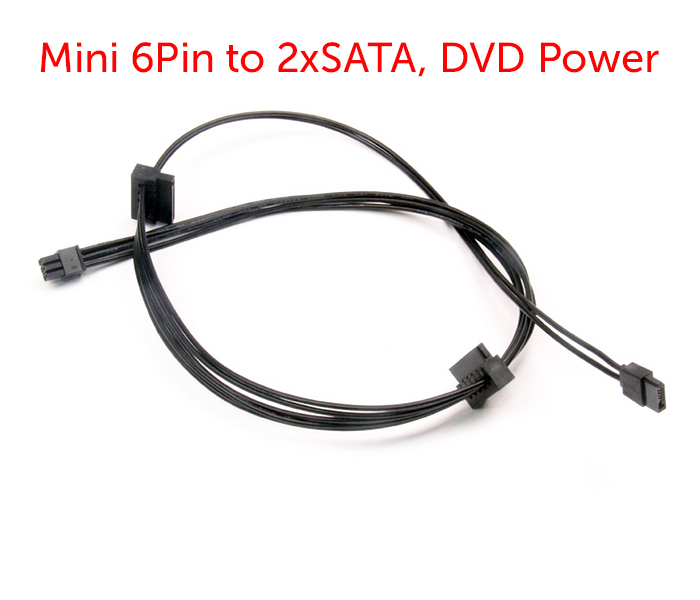 Cáp nguồn Mini 6Pin ra 2 SATA, DVD power cho Dell Vostro 3070 3670