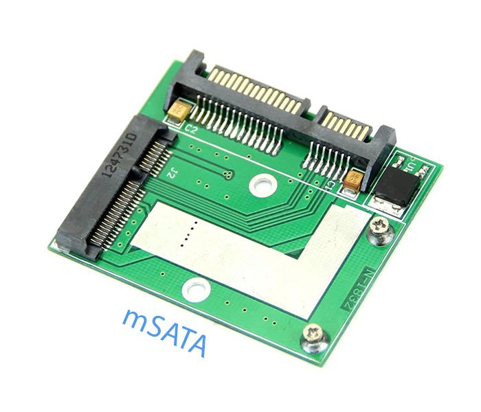 Adapter SSD mSATA to SATA nhỏ gọn