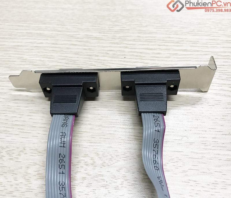 Dual 9Pin COM Mainboard ra 2 Port RS232 Male Bracket