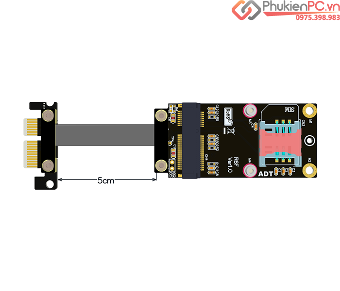 Adapter PCIe 3.0 1X to Mini PCIe