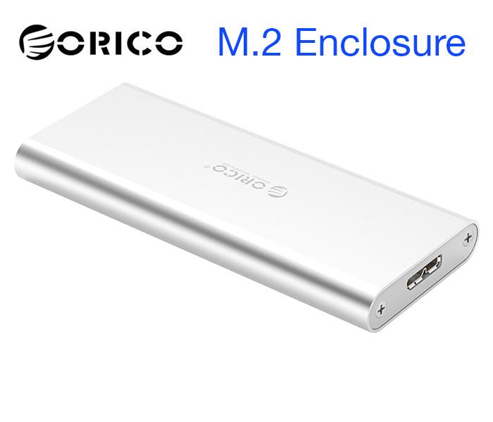 Box M2 SATA 2280 to USB 3.0 Orico vỏ nhôm-Biến SSD M.2 thành ổ cứng di động