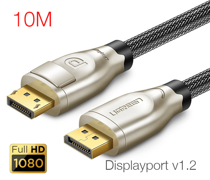 Cáp Displayport 1.2 dài 10M FullHD Ugreen 30124