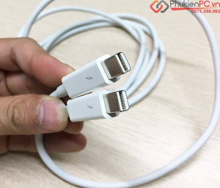 Cáp Apple Thunderbolt 2M MD861 trắng hàng cũ