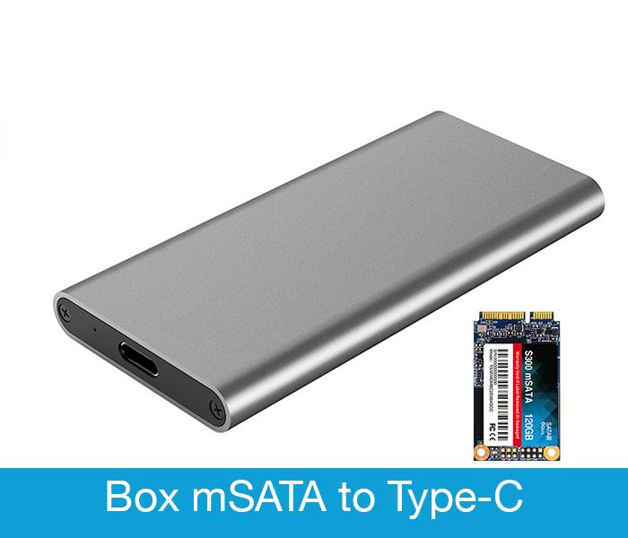 Box chuyển SSD mSATA ra USB 3.1 Type C vỏ nhôm