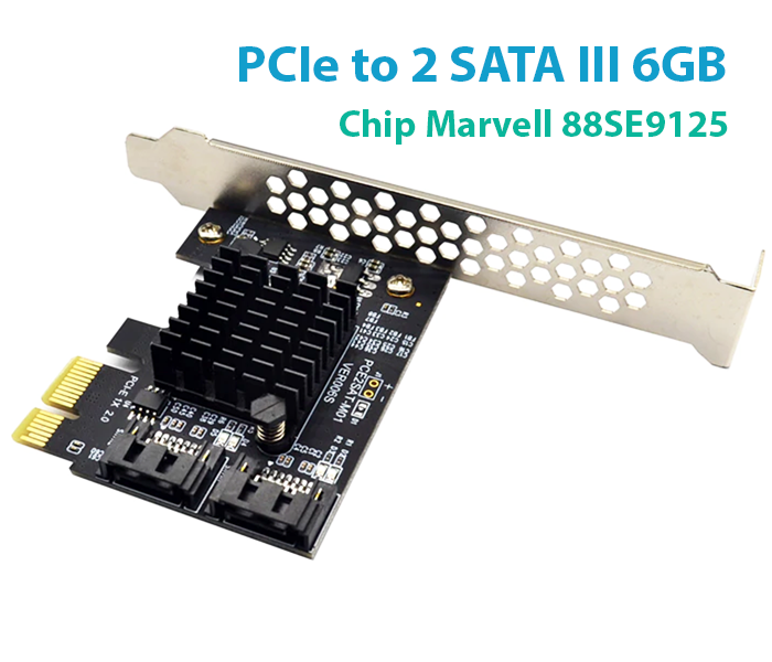 Card PCI-E to 2 SATA III 6Gb lắp thêm SSD HDD