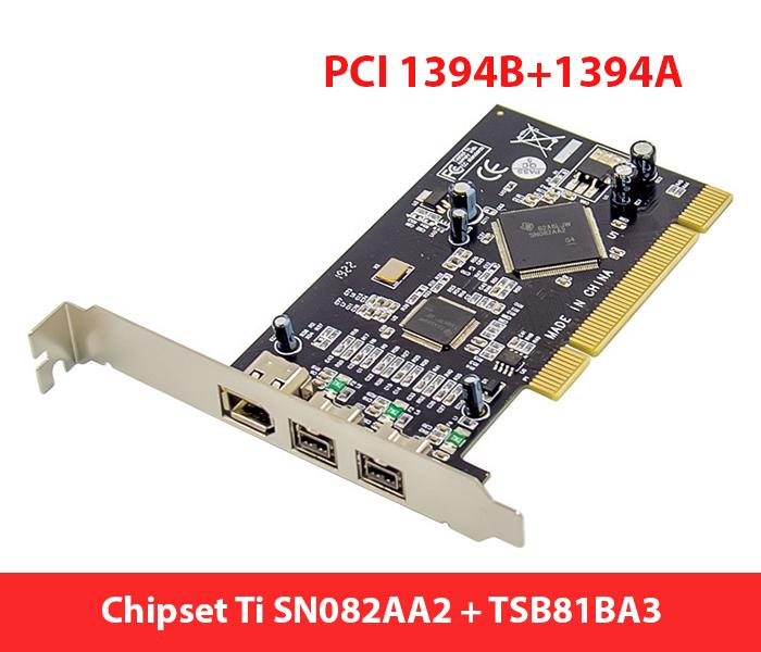 Card mở rộng PCI ra 2 cổng 1394B, 1394A chip Ti