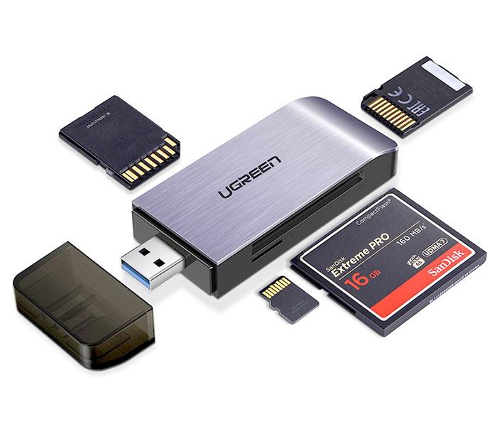 Đầu đọc thẻ nhớ USB 3.0 4 in 1 SD, TF, CF, MS Ugreen 50541