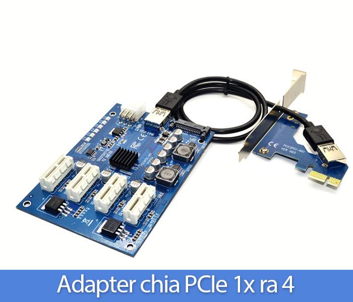 Card chia PCIe 1X ra 4 PCIe 1X