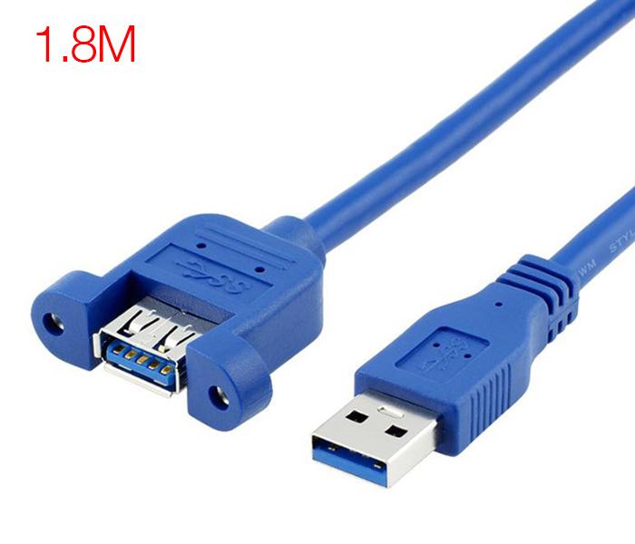 Cáp nối dài USB 3.0 Male to Female đầu bắt vít 1.8M