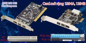 Card mở rộng Firewire 1394A, 1394B cho Soundcard âm thanh chất lượng cao
