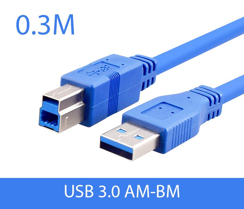 Cáp USB 3.0 AM-BM Type B dài 0.3M