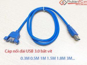 Nơi bán cáp USB 3.0 nối dài bắt vít 0.3M 0.5M 1M 1.5M 1.8M 3M tại Hà Nội