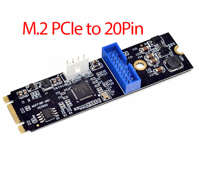 Adapter M.2 PCIe to 20Pin USB 3.0