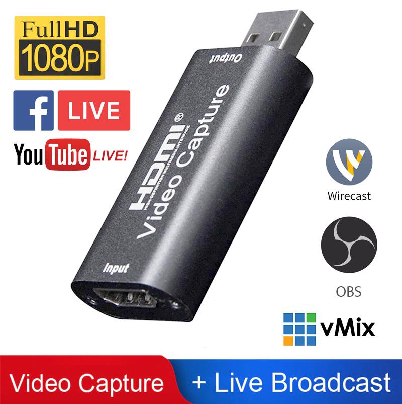 Thiết bị ghi âm hình ảnh HDMI sang USB 2.0 1080P