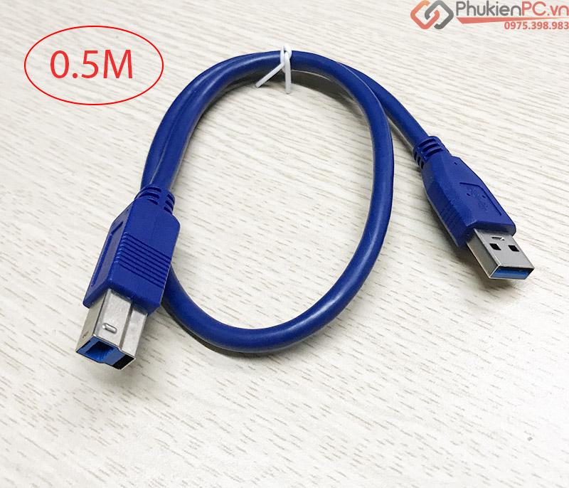 Cáp USB 3.0 AM-BM Type B Male cho Box ổ cứng, Máy in, camera