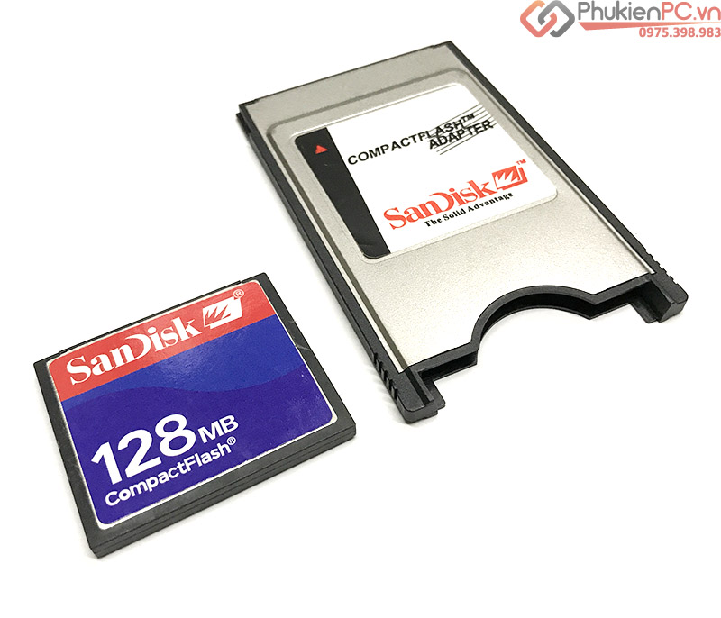 Thẻ nhớ CF-Compact Flash Sandisk 128MB dùng cho máy CNC