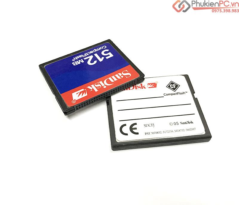 Thẻ nhớ 512Mb, Adapter, đầu đọc thẻ cho máy CNC